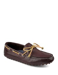 Sperry Hamilton Leather Driver Moccasins Brown