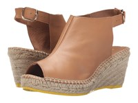 Lole High Heel Sandals Middle Sienna Women's Wedge Shoes Brown