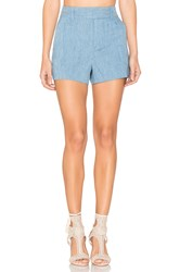 Alice Olivia Deacon High Waisted Shorts Blue