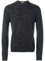 Etro Paisley Pattern Jumper Grey