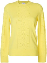 Barrie Frayed Knit Jumper Yellow And Orange