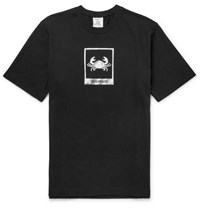 Vetements Cancer Printed Cotton Jersey T Shirt Black