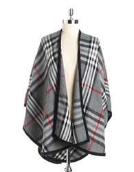 Lord And Taylor Plaid Shawl Grey