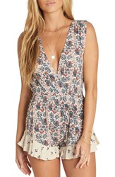 Billabong Galaxies Abound Plunging Romper Ivory