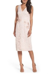 Maggy London Women's Floral Lace Midi Dress Rose