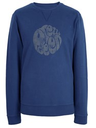 Pretty Green Heyland Cotton Sweatshirt Navy