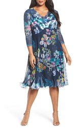 Komarov Plus Size Women's Chiffon A Line Dress