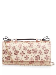 Red Valentino Floral Brocade Clutch Pink Multi