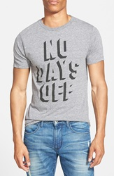 Kid Dangerous 'No Days Off' Graphic T Shirt Medium Grey