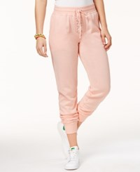 Material Girl Active Juniors' Lace Up Sweatpants Pure Pink