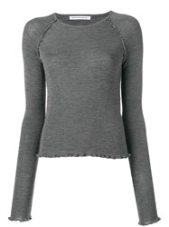 Alexander Wang T By Jersey Knitted Top Grey