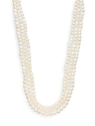 Saks Fifth Avenue 8 9Mm White Baroque Cultured Pearl Strand Necklace 100