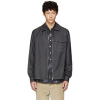 Schnayderman's Black Denim One Zip Shirt