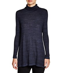 Three Dots Amber Turtleneck Tunic Noir