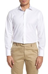 Lorenzo Uomo Big And Tall Trim Fit Solid Dress Shirt White