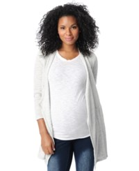 Motherhood Maternity French Terry Open Front Cardigan Grey