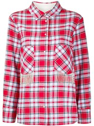 Woolrich Fringed Pockets Check Shirt 60