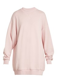 Marques Almeida Oversized Cotton Blend Sweatshirt Light Pink