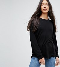 Asos Tall Oversized T Shirt With Batwing Detail Black