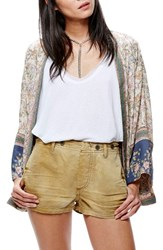 Free People Women's Cargo Shorts Taupe