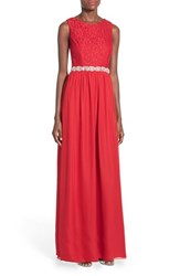 Women's Speechless Embellished Lace Bodice Gown
