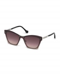Balenciaga Squared Cat Eye Overlay Sunglasses Pink