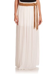 Ramy Brook Giselle Pleated Maxi Skirt Summer White