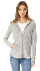 Atm Anthony Thomas Melillo Zip Front Hoodie Heather Grey