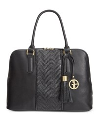 Giani Bernini Pebble Weave Dome Satchel Only At Macy's Black