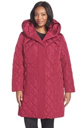 Plus Size Women's Gallery Pillow Hood Quilted Down And Feather Fill A Line Coat