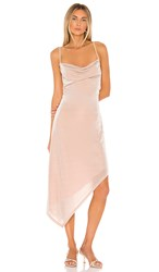 Donna Mizani Carrie Midi Dress In Blush. Nude