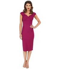 Stop Staring Hermosa Fitted Dress Fuscia Women's Dress Pink