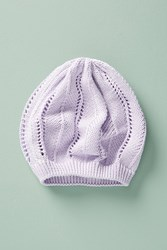 Anthropologie Cotton Beret Lilac