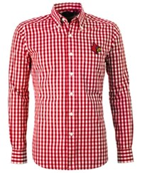 Antigua Louisville Cardinals National Button Up Red White
