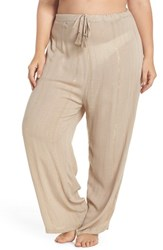 Muche Et Muchette Plus Size Women's Iris Cover Up Pants Taupe Gold