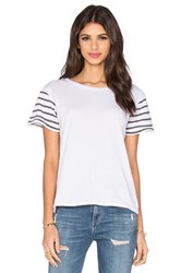 Ragdoll Short Sleeve Stripes Tee White