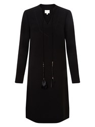 East Feather Tunic Dress Black