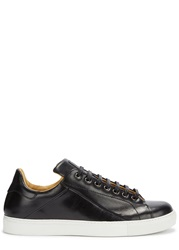 Mr. Hare Cunningham Black Leather Trainers