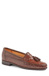 Zelli Men's 'Cape Town' Ostrich Tassel Loafer Brown Leather