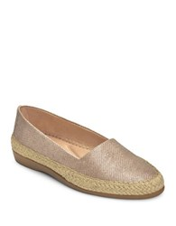 Aerosoles Trend Report Lace Espadrille Flats Champagne