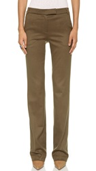 James Jeans Fitted Clean Front Trousers Camel Flannel