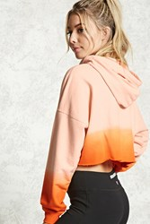 Forever 21 Active Ombre Hoodie Pink Orange