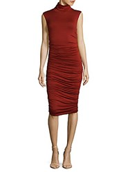 Bailey 44 Ruched Bodycon Dress Brick