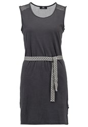 Le Temps Des Cerises Flama Jersey Dress Anthracite Grey