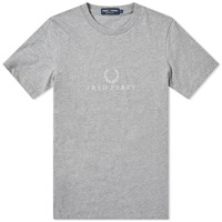 Fred Perry Embroidered Tee Grey
