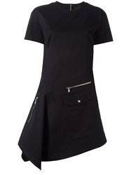 Diesel Black Gold Zip Detail Fitted Dress Black