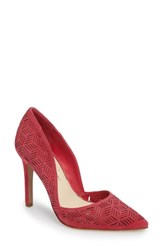 Jessica Simpson Women's Charie Pointy Toe D'orsay Pump Sunset Pink Suede
