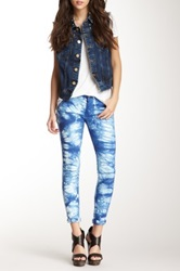 Romeo And Juliet Couture Tie Dye Skinny Jean Blue