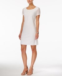 Styleandco. Style And Co. Short Sleeve Shift Dress Only At Macy's Winter White