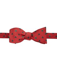 Brooks Brothers Christmas Tree Bow Tie Red